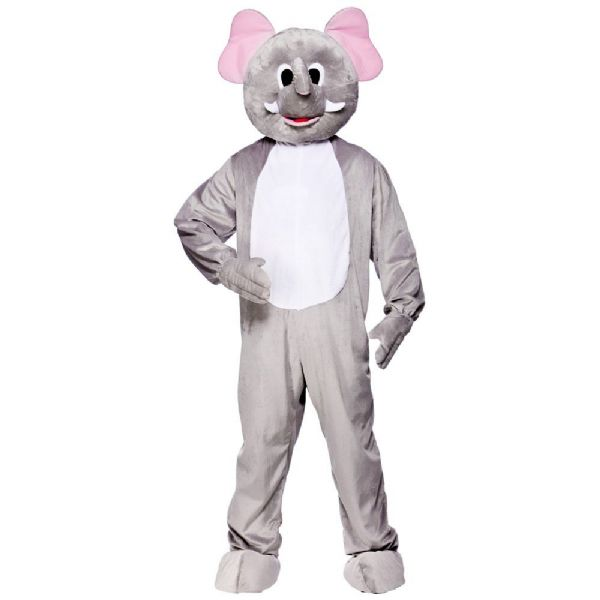 Adult Deluxe Mini Mascot Costume for Animals Creatures Fancy Dress Mens Ladies Jungle Elephant